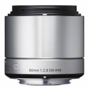 Sigma 60mm f/2.8 DN Art argintiu - montura micro 4/3