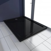 vidaXL Obdélníková ABS sprchová vanička, černá 80 x 110 cm