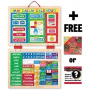 My First Daily Magnetic Calendar + FREE Melissa & Doug Scratch Art Mini-Pad Bundle