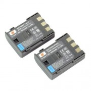 DSTE 2x NB-2LH Replacement Li-ion Battery for Canon Elura 85 90 MV800 800i 900 920 EOS 350D 400D PowerShot G7 G9 S70 S80 R100 R11 Camera as NB-2L BP-2LH
