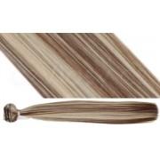 Syntetická clip in sada vlasů v odstínu 6/613 Délka: 60 cm, Hmotnost: 140 g