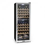 Klarstein Vinamour 54D, borhűtő, 2 zóna, 148 l, 54 palack, nemesacél homlokzat