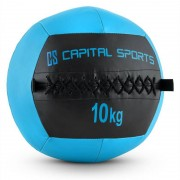 Capital Sports Epitomer Wall Ball 10kg cuir synthétique bleu sombre