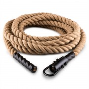 CAPITAL SPORTS Power Rope H6 con gancho 6m 3,8cm cuerda cáñamo