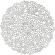 Royal Medallion Lace Round Paper Doilies 12-Inch Pack of 8 (B23006)