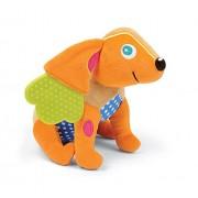 Oops Little Helper - Sonajero y mordedor 2 en 1 (múltiples texturas), diseño de perro