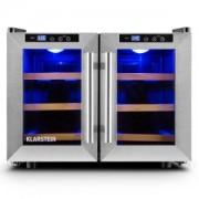 KLARSTEIN RESERVA SALOON хладилник за бира вино 12 бутилки 40 литра неръждаема стомана LED