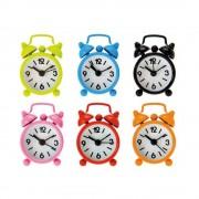 Mini ceas metalic de birou cu alarma - 6 x 4 cm, Radar OT79/3071