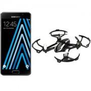 Smartphone Samsung Galaxy A3 2016 Noir + Blackbird HD 4G-LTE avec écran tactile Super AMOLED HD 4.7' sous Android 5.1 + Drone volant et roulant avec caméra embarquée