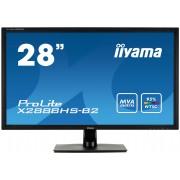 iiyama ProLite X2888HS-B2 28' LED LCD 1920x1080 5ms MVA 300cd/m² 12M:1 ACR VGA HDMI (MHL) DVI DisplayPort speakers TCO6