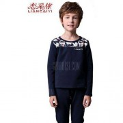 GearBest Liancaiyi Long Sleeve Printed Boy Suit