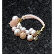 "The ""Airy jewel"" beads kit AC-125 bracelet made of TOHO air Pearl (japan import)"