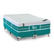 Colchão Castor Molas Pocket Gold Star Green One Side - Colchão Queen Size - 1,58x1,98x0,32 - Sem Cama Box