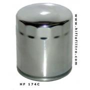 HifloFiltro filtro moto cromato HF174C