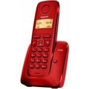 """Siemens Gigaset A120 Teléfono inalámbrico (DECT, pantalla 1.4"""", 50 contactos), color rojo"""