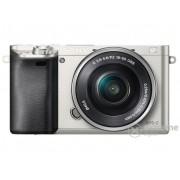 Kit aparat foto digital Sony Alpha 6000 (cu obiectiv 16-50mm), argintiu