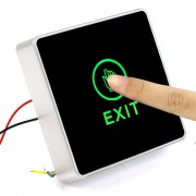 Generic DC 12V NC NO Release Button Switch Square Touch Sensor Door Exit with LED Light F1742A
