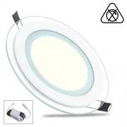 LED Paneel / Downlight Set 6w 4200k Natuurlijk Wit Rond Inbouw Glas Armatuur Slim Spatwaterdicht