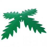 Lego Parts: Plant, Tree Palm Leaf (4 Blades Green)