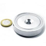 Magnet neodim oala cu gaura ingropata, Fi 60 mm, putere 130 kg
