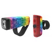 Knog POP Duo Beleuchtungsset Twinpack rainbow Batteriebeleuchtung Set