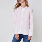 River Island Petite pink pinstripe bow back shirt