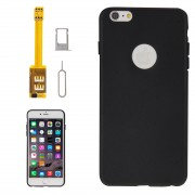 4 in 1 (Dual SIM Card Adapter + TPU Case + Tray Holder + Sim Card Tray Holder Eject Pin Key) for iPhone 6 Plus