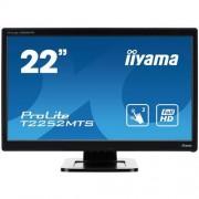 Monitor iiyama T2252MTS-B3, 22'' Multitouch, LCD, 1920x1080, 1000:1, 2ms, 220cd, D-SUB, DVI, HDMI, USB