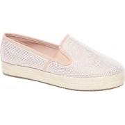 Roze slip-on strass