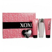 Xoxo Women Gift Set (Eau De Parfum Spray Satin Body Lotion Moisturizing Shower Gel Mirror)