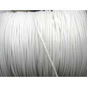 Vaxad Polyestertråd - Vit, 1mm, 1 rulle, ca 91m
