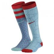 Nike Graphic Cotton Moisture Management Knee High Kids' Socks (2 Pair)