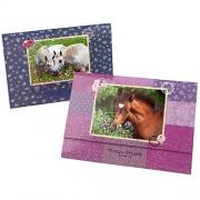 Depesche 5487 - Set di 24 fogli di carta da lettere con 18 buste Horses Dreams