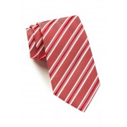 HUGO BOSS Silk Stripe Tie RED