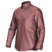 Maatoverhemd rood/wit 53329