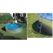 Gre ADRIA medence szett 360x90cm létrával, vízforgatóval FFA 101