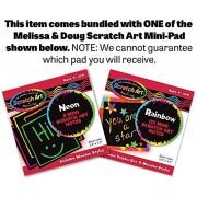 Soft Rainbow Stacker: First Play Series + FREE Melissa & Doug Scratch Art Mini-Pad Bundle [30663]