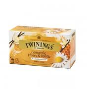 Twinings ceai musetel, vanilie si miere 25 pliculete