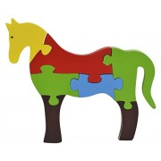 Skillofun Wooden Take Apart Puzzle Large - Horse, Multi Color