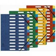 EXACOMPTA Ordnungsmappe, DIN A4, Karton, 12 Fächer, blau