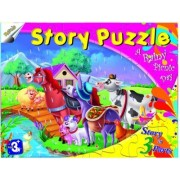 Story Jigsaw Puzzle - A Rainy Picnic Day - Educational Toy, Puzzle, Creative Gift