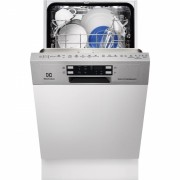 Masina de spalat vase partial incorporabila Electrolux ESI4620ROX, 45 cm, inverter, 6 programe, clasa A++, inox