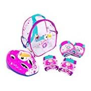 Clanners (Saica Toys 8991) - Girls' Helmet + Protectors Set