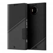 Etui Mozo Thin Flip Cover Czarny do Lumia 950 XL (950XLTFBG)