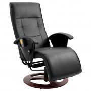 """vidaXL """"Fotel elektryczny do masażu w kolorze czarnym"""""""