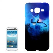 Blue Butterfly in the Dark Pattern PC Protective Case for Samsung Galaxy J2 / J200