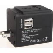 Adaptor priza universal Serioux SRXA-158 2 porturi USB Negru