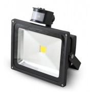 G21 LED reflektor, 30W fehér, 2462lm - fekete PIR érzékelővel