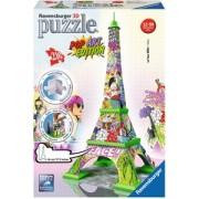 3D Puzzel - Eiffel Tower - Pop Art (216 stukjes)