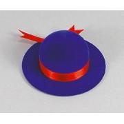 Sametova krabicka na sperky - modry kloboucek